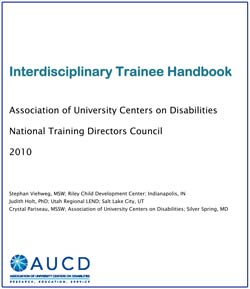 AUCD Interdisciplinary Trainee Handbook cover image