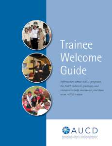 Trainee Welcome Cover